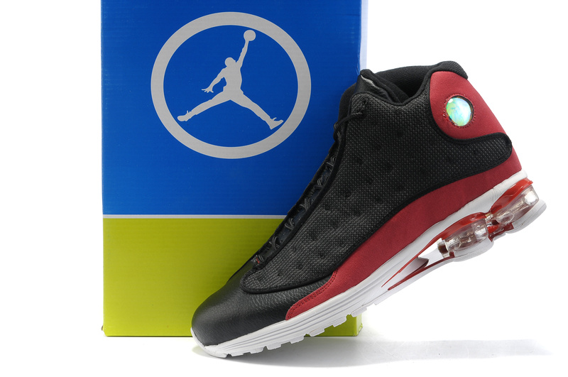 Comfortable Air Cushion Jordan 13 Black Red