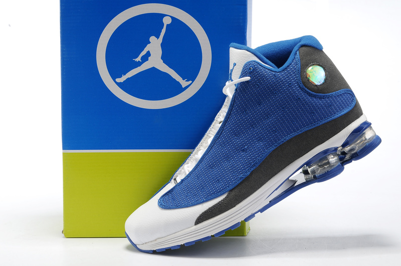 Comfortable Air Cushion Jordan 13 Blue White Grey