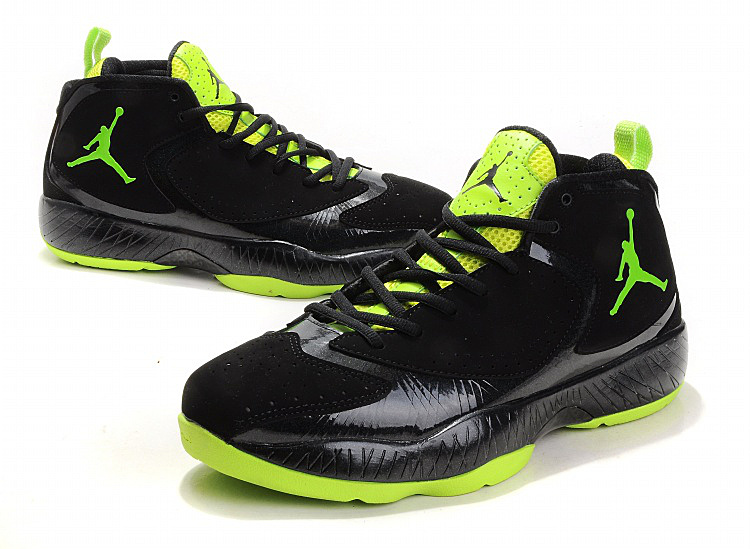 Air Jordan Shoes Black Green
