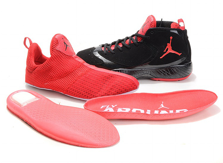 Air Jordan Shoes Black Red