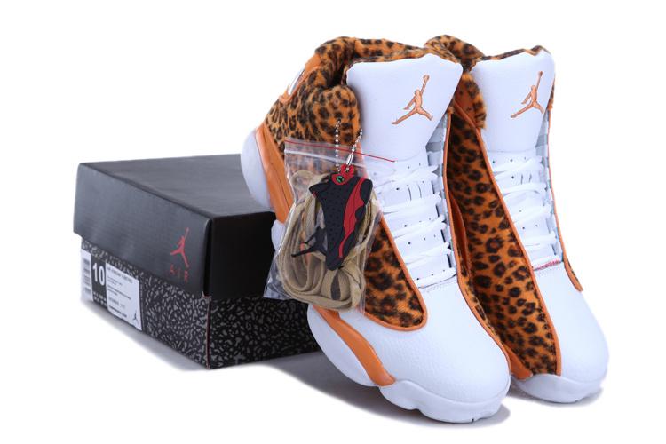2013 Air Jordan 13 Leopard Print White Yellow Shoes For Sale  2013 Air Jordan...