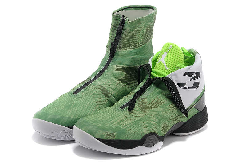 2013 Jordan 28 Green Black Shoes