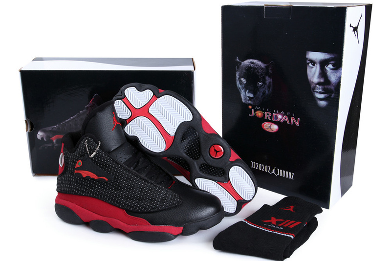 2013 Hardcover Air Jordan 13 Black Red Shoes