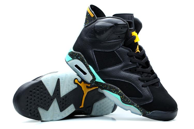 2014 Air Jordan 6 Retro Dark Blue Green Shoes