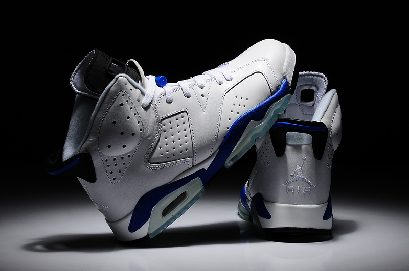 2014 Air Jordan 6 Retro White Blue Shoes
