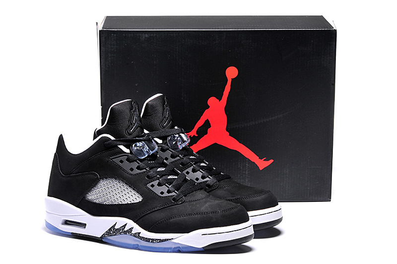 Ai Jordan 5 Shoes Low Oreo Black White
