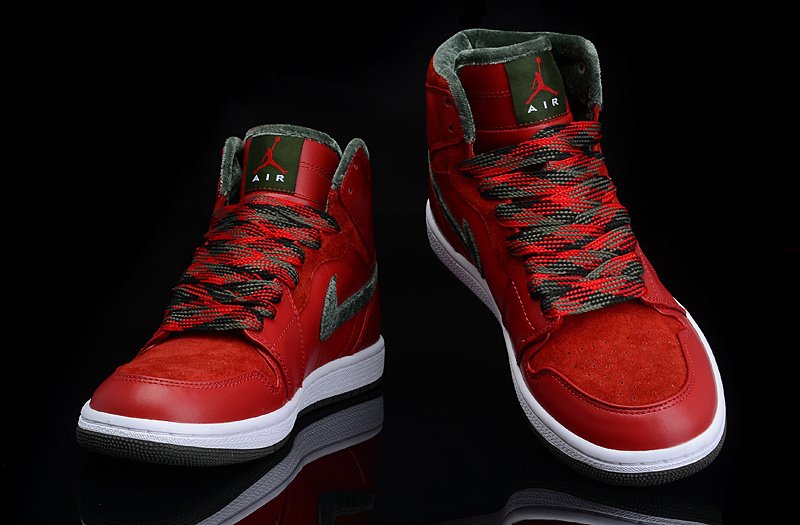 2015 Jordan 1 All Red Green