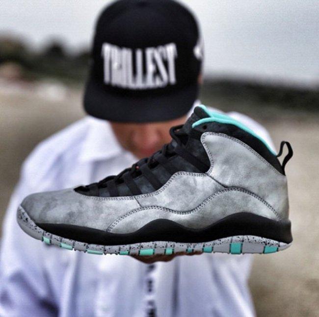 Air Jordan 10 Black Silver Shoes For Women