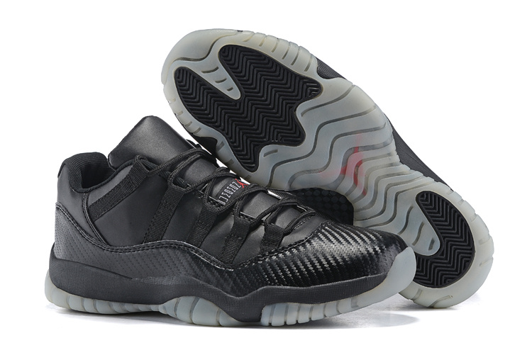 2015 New Air Jordan 11 Shoes All Black Transparent Sole