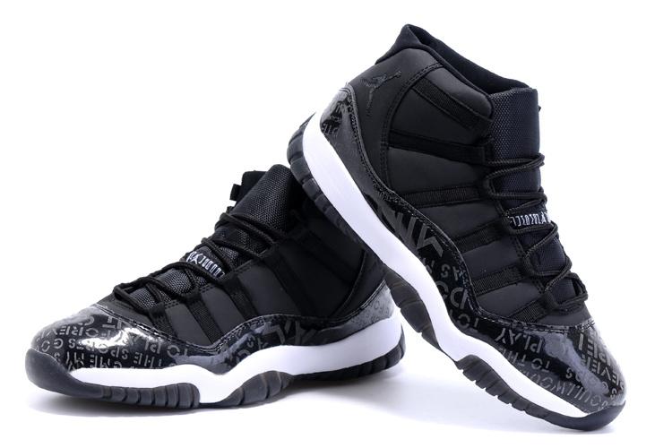 Air Jordan 11 Shoes Charity Black