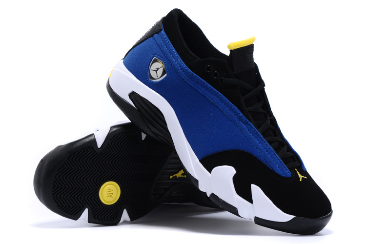 Air Jordan 14 Low Shoes Blue Black White
