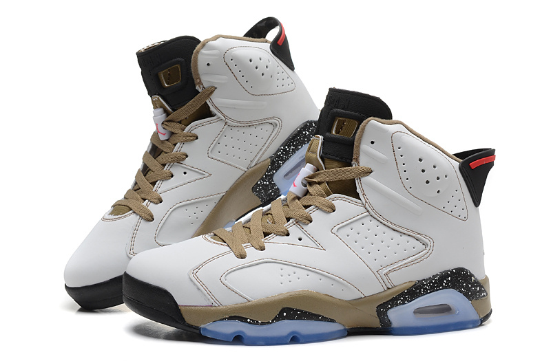 Air Jordan 6 Shoes White Coffe Black