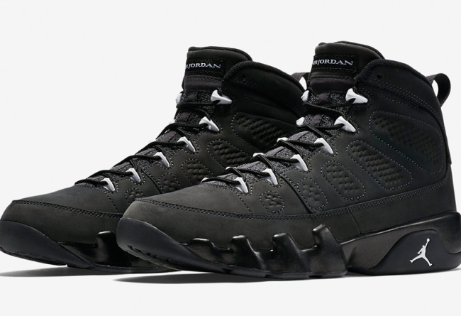 New Air Jordan 9 Shoes Anthracite All Black