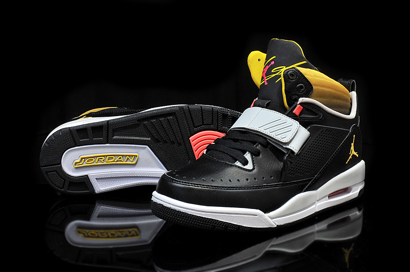 Air Jordan Flight 97 Black Grey Yellow Shoes