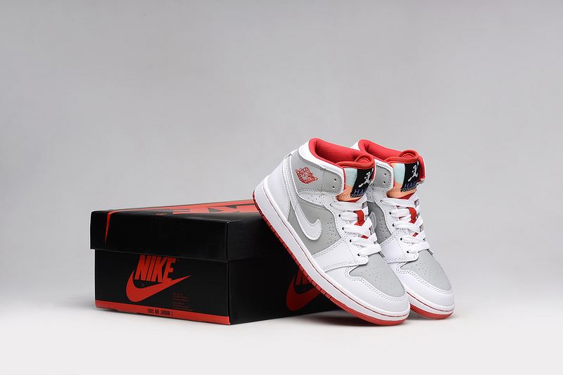 New Air Jordan 1 Bugs Bunny White Red Grey Shoes