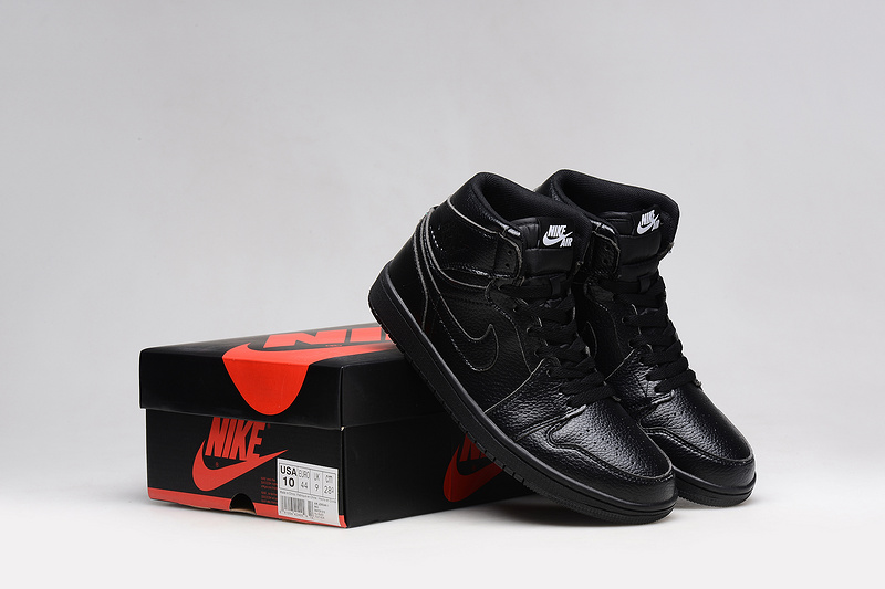 2015 Air Jordan 1 All Black Shoes
