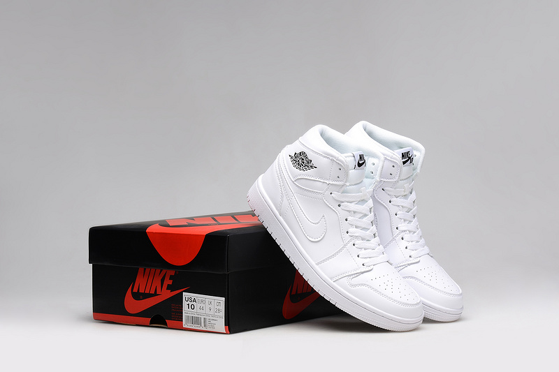 2015 Air Jordan 1 All White Lover Shoes