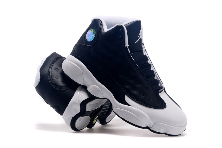 2015 Air Jordan 13 Oreo Black White Lover Shoes
