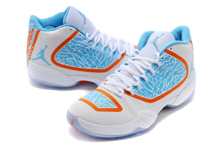 Air Jordan 29 White Blue Orange Shoes