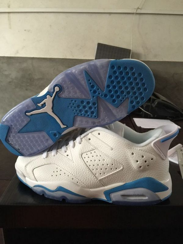 2015 Air Jordan 6 Low Shoes White Baby Blue