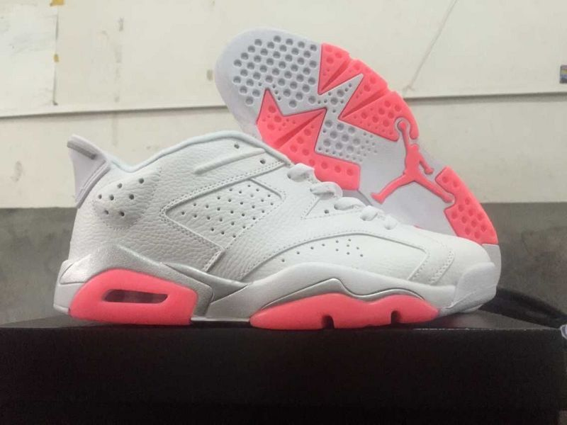 2015 Air Jordan 6 Low Shoes White Pink