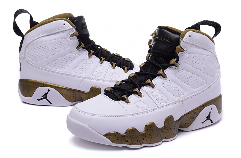 2015 Air Jordan 9 Retro White Coffe Black Shoes