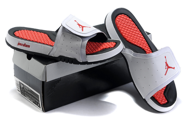 Air Jordan Hydro 2 White Red Black Sandal