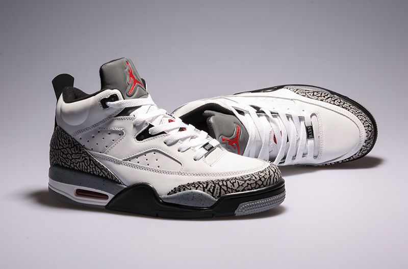 2015 Air Jordan Spizike White Grey Shoes