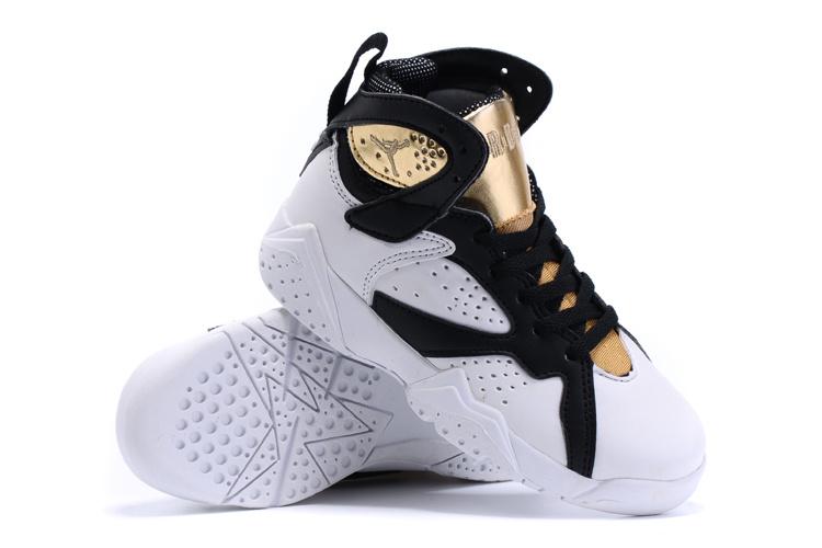 New Air Jordan 7 Retro White Gold Kids Shoes