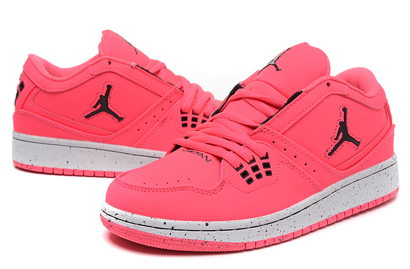 2015 Air Jordan 1 Flight Low Pink Shoes