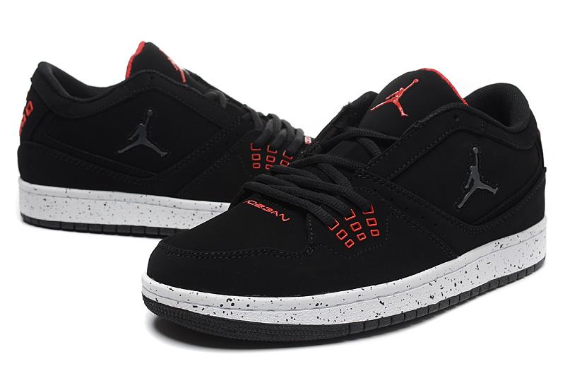 2015 Air Jordan 1 Low Black Red Shoes