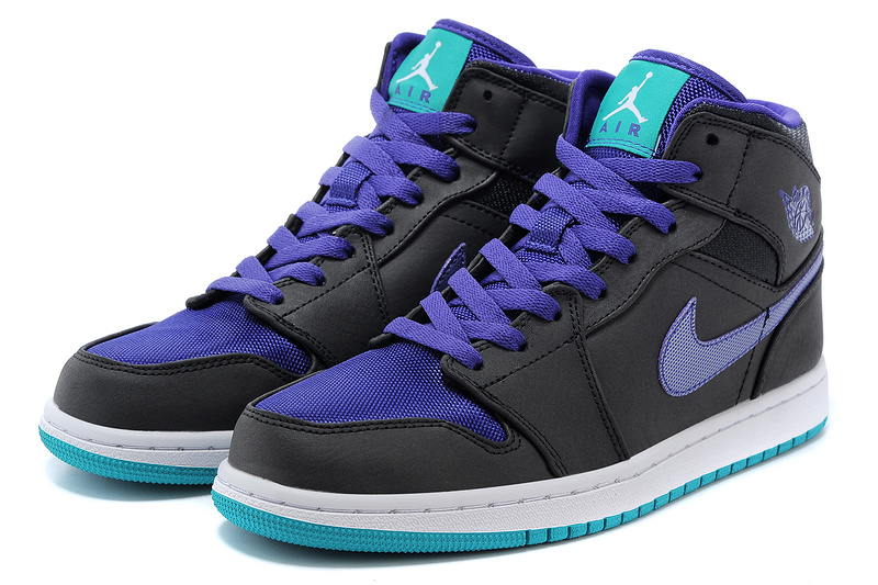 2015 Air Jordan 1 Retro Black Blue Shoes