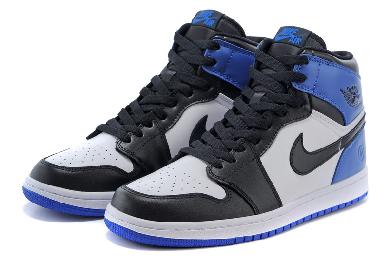 2015 Air Jordan 1 Retro Black Grey Blue Shoes