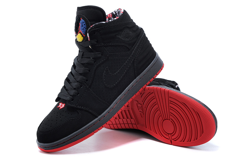 2015 Air Jordan 1 Retro Black Red Shoes