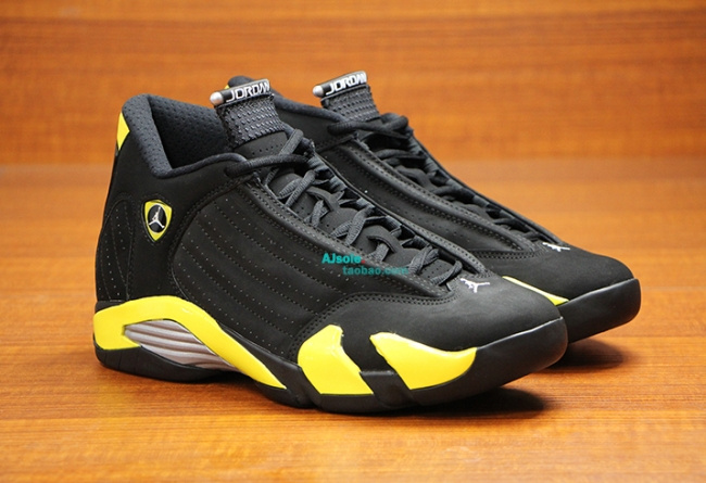 2015 Air Jordan 14 Retro Black Yellow Shoes