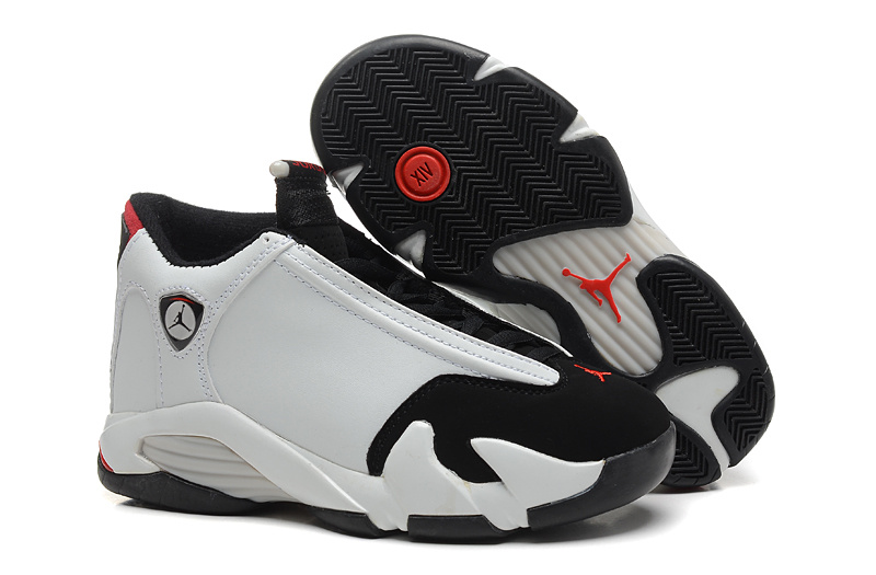 2015 Air Jordan 14 White Black Red Shoes