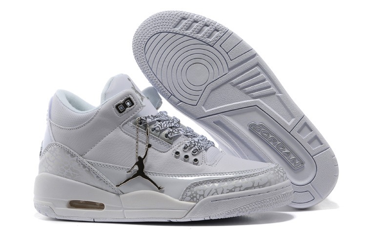 2015 Air Jordan 3 Retro Grey Cement Lover Shoes