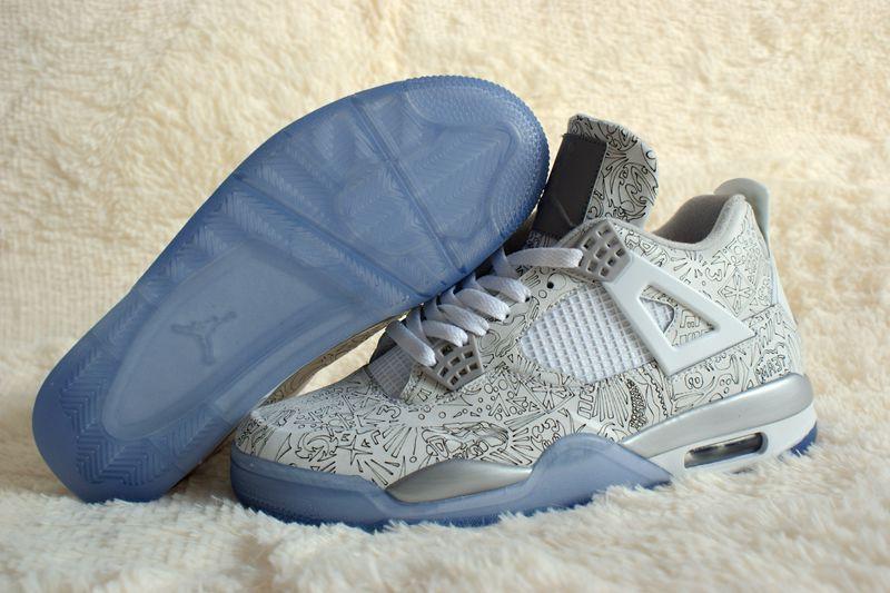 2015 Air Jordan 4 Retro White Silver Shoes