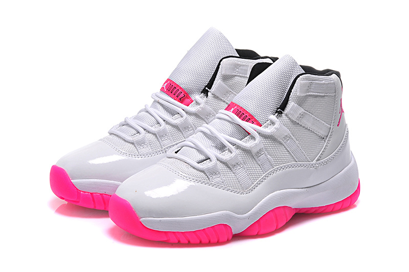 2015 Air Jordan 11 Low White Pink For Women
