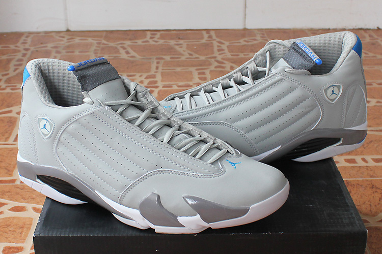2015 Air Jordan 14 White Grey Shoes