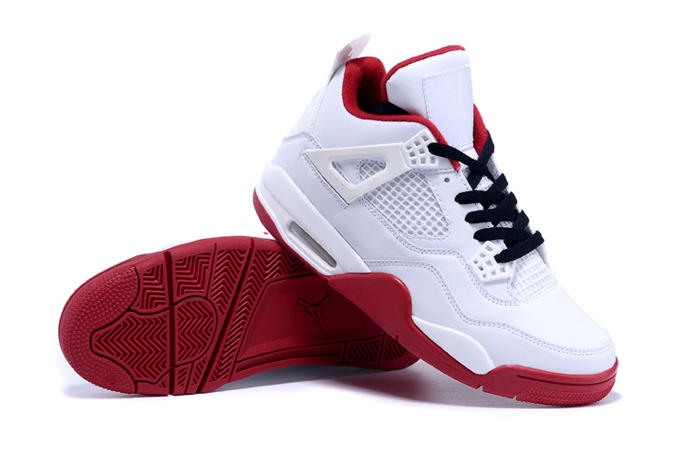 2015 Air Jordan 4 White Red Black Shoes