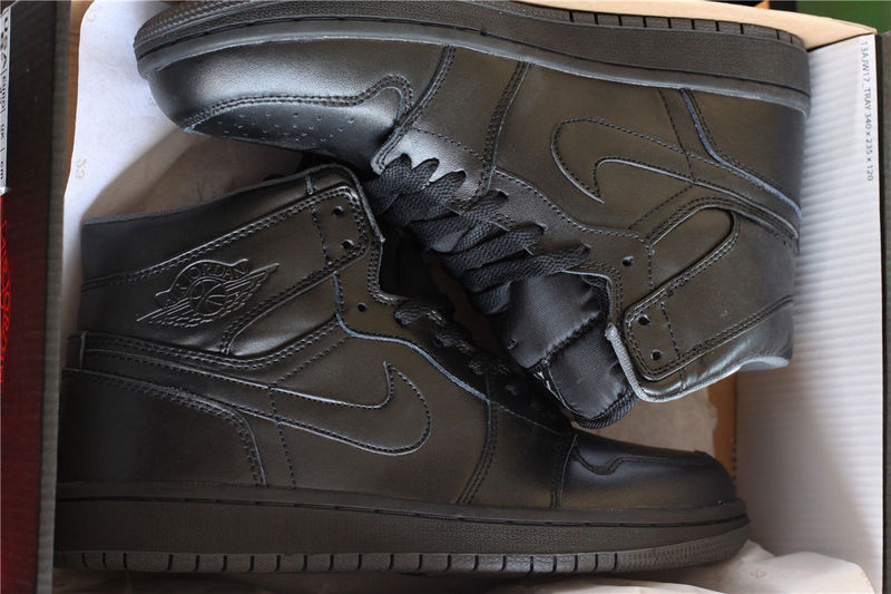 2016 Air Jordan 1 All Black Lover Shoes