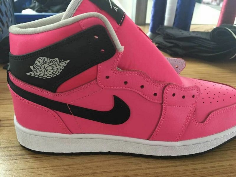 2016 Air Jordan 1 GS Pink Black White Shoes