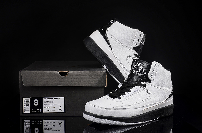2016 Air Jordan 2 Retro White Black Shoes