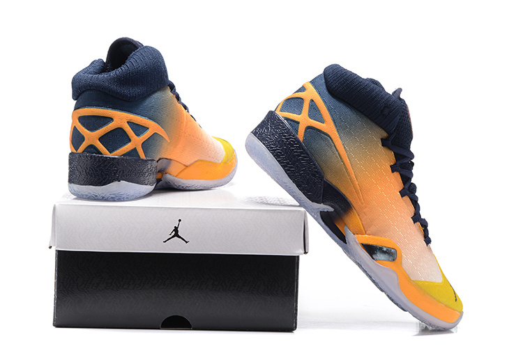 2016 Air Jordan 30 Westbrook Yellow Black Orange Shoes For Sale