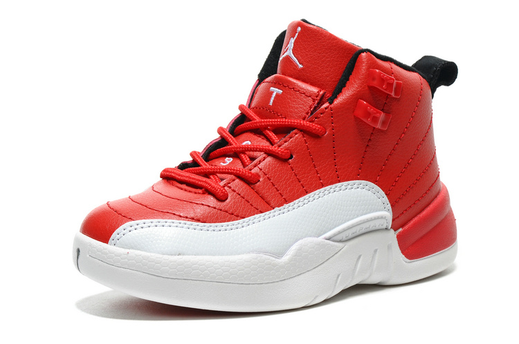 2016 Classic Air Jordan 12 Gym Red Shoes For Kids