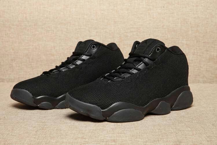 2016 Classic Air Jordan 13 Low Flyknit All Black Lover Shoes