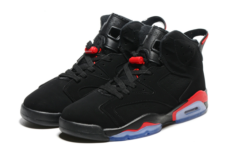 2016-Classic Air Jordan 6 Black Infrad Red Blue Sole Shoes