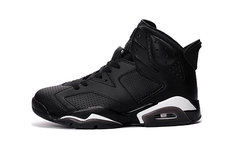2016 Classic Air Jordan 6 Retro All Black Cat Shoes