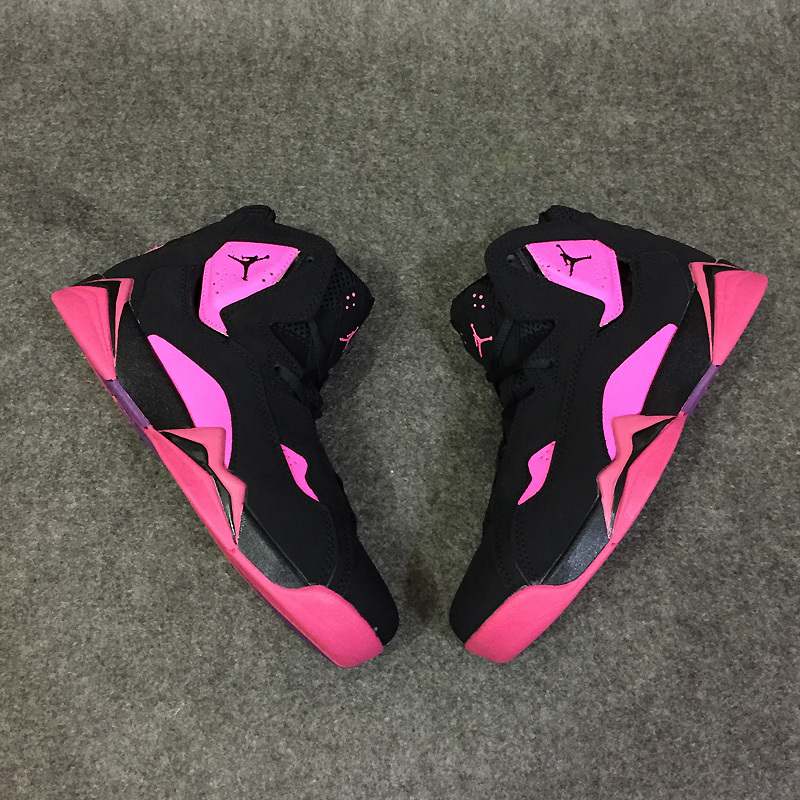 2016 Classic Air Jordan 7 Improved Dark Black Pink Shoes